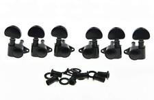 *NEW Vintage Style Kidney Button TUNERS for Gibson Les Paul & Acoustic 3x3 Black