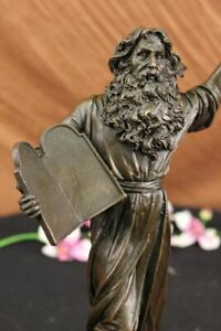 100% solid Bronze Sculpture sign.Milo Moses Lost Wax Method Figurine Figure Deal