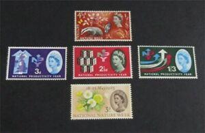 nystamps Great Britain Stamp # 387P//394P Mint OG H $30   L23x1770