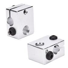 Aluminium Heat Block For 3D Printer V6 J-head Makerbot MK7/MK8 Extruder  `
