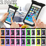 2 Pack Swimming Waterproof Underwater Pouch Bag Pack Dry Case for smart Phone