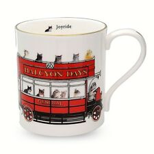 Halcyon Days, 'Cat Joyride' Porcelain Mug, Brand New In Box