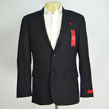 NWT ALFANI RED Slim Fit Herringbone Navy Two Button Blazer Suit Coat Sz 38S