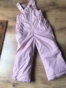 Girls  GAP Pink Waterproof Snow Ski Trousers Age 2 Years
