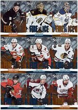 32 different 2013-14 Panini Select Hockey Fire on Ice Stars Card Lot