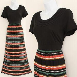 BNWT M&S Per Una Size UK 10 EU 38 M Beautiful Multi Color Cotton Maxi Dress