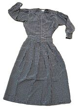 Vtg 70s Evan Picone 2 Pc Secretary Black & White Print Blouse Skirt Set 12 S/M