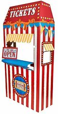Carnival Games Party Supplies-Ticket Booth Cardboard Stand,Measures 6'in height.