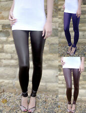 EXTRA LONG Leggings WET LOOK Black Uk Size 8 10 12 14 16 18 20 22 24 26 Tall