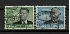 s31224) GERMANY 1934 USED Air Mail 2 high values 2dm + 3dm Zeppelin 2v