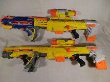 2 - NERF Longshot CS-6 w/ Tactical Scope Front Blaster Gun Attachment Clips Ammo