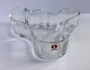 Iittala Alvar Aalto Scandinavian Clear Glass Bowl.