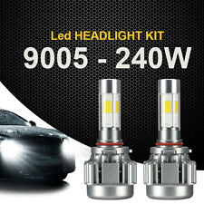 240W 2PC 9005 HB3 24000LM COB LED Car Headlight Kit White Beam 6000K Bulb 4-Side