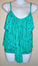 O'Neill Junior Tiered Cami Teal Small (S) NWT
