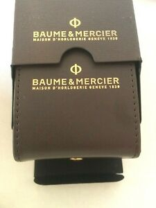 BAUME & MERCIER Watch Box travelling outher card + Leather Box+cushion Original.