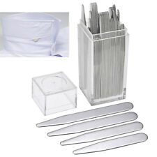 40pcs Men's Silver Metal Collar Stays Bone Stiffeners in Box Insert Shirt Gift