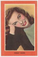 Peggy Doro 1950s Guillen Artistas de Cine Paper Stock Trading Card - yellow NM+