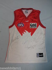 #HH1.  SYDNEY SWANS AFL SUPPORTER'S  JERSEY WITH SIGNATURES