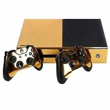 S5 Gold Glossy Skin Sticker for Xbox One Console Controller Kinect Decal W6a2