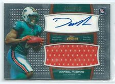 2011 Topps Finest Daniel Thomas JERSEY RELIC AUTO RC /589 DOLPHINS (Orange)