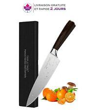 Couteau de chef,Cuisine japonais, Lame tranchante,en carbone et acier inoxydable