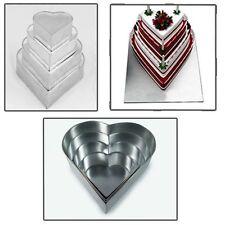 4 Tier Heart Multilayer Wedding Birthday Anniversary Baking Cake Tins Pans