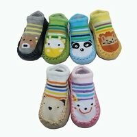 1 Pair Baby Toddler Girl Boy Anti-Slip Socks Shoes Slipper for 6-24 Months