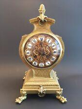 Antique 19th Century French Mantel Clock Bronze Bracket Clock ALPE GIROUX PARIS