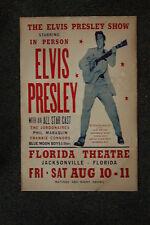 Elvis Tour Poster 1956 Jacksonville Florida