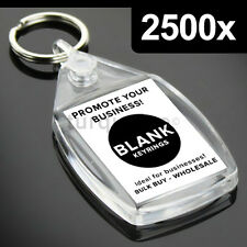 2500x Clear Acrylic Blank Keyrings Key Fobs 35 x 24 mm | Small Size Photo
