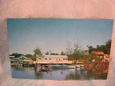 WEYER'S RESORT LAKE ELLEN CASCADE WI FISHING BOATS  VINTAGE POSTCARD