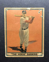 """1941 Play Ball HARRY """"The Horse"""" DANNING #7 New York Giants Low Grade"""