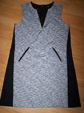 NEW Juniors womens Mossimo M Black Gray Sleeveless Skater Dress Pockets Back Zip