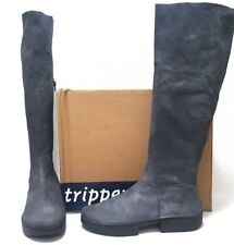 TRIPPEN Womens  Leather Patrol Grey Knee High Boots size EUR 40     $455