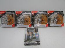 New Lot of 4 Mega Construx Halo Spartan Armor  Pack II with Forerunner Pack Also