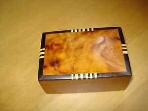 HANDMADE THUYA WOOD LEMON BOX/JEWELLERY /TRINKETS from Morroco FAIRTRADE