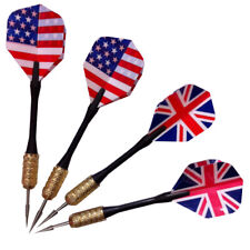 3pcs/set of Steel Needle Tip Dart Darts With Nice Flight Flights UK/US Flag Hot