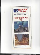 Ozark  Airlines   May 15  1979  timetable