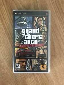 Grand Theft Auto Liberty City Stories Sony PlayStation Portable PSP With Map.
