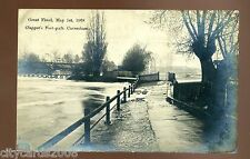 READING   Berkshire The Thames in FLOOD Clappers Footpath Caversham  1908