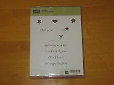 Stampin Up si heureux pour vous Clear Mount Rubber Stamp Set