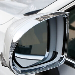 Chrome Exterior Side Mirror Eyebrow Cover Trim 2PCS Fit for Volvo XC60 2018-2020