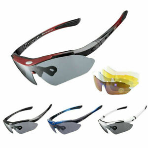 Polarized Cycling Glasses Eyewear Bike Goggles Fish Sunglasses 5 Lenses