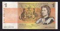 Australia R-71F. (1966) 1 Dollar - Coombs/Wilson.. 1st  Prefix  AAA..  VF-gVF
