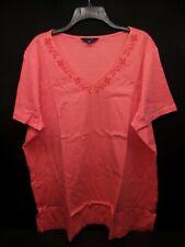 Lands End - Embroidered T-Shirt - 277796 - V-Neck - Melon - NWT