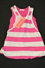 NWT Ella Moss Striped Pink Dress - Bubbled Styled - Infant Girl 3-6M
