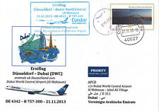 [w50] Erstflugpost - Condor - Düsseldorf - Dubai - 21.11.2013