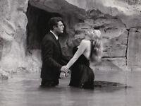 Marcello Mastroianni Anita Ekberg La Dolce Vita Fellini Vintage Original 1960