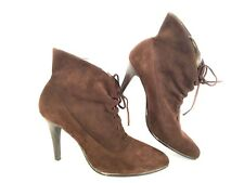 e392d02ac48 Calvin Klein Womens Booties 8M Ankle Boots Brown Suede 3.5