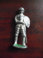 "Vintage 1940s Metal Barclay Toy Soldier in Mideval Armour 3"" Tall"